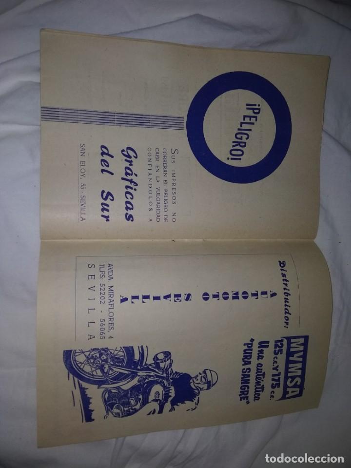Coches y Motocicletas: Rareza Revista R. Moto club de Andalucía, circuito Sevilla 1959 - Foto 22 - 144378674