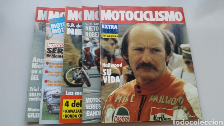 LOTE 5 REVISTAS MOTOCICLISMO 1981 1982 (Coches y Motocicletas - Revistas de Motos y Motocicletas)