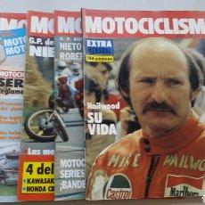 Coches y Motocicletas: LOTE 5 REVISTAS MOTOCICLISMO 1981 1982. Lote 144598362