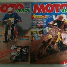 Coches y Motocicletas: OCHO REVISTAS MOTO VERDE. LAS DE LAS IMAGENES. Lote 146869618