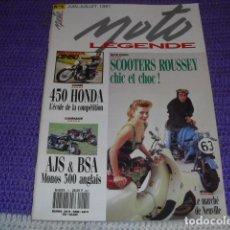 Coches y Motocicletas: MOTO LEGENDE Nº 5 - AÑO 1991 -. Lote 148559078