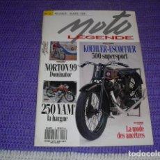 Coches y Motocicletas: MOTO LEGENDE Nº 3 - AÑO 1991 -. Lote 148630990