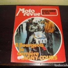 Coches y Motocicletas: MOTO REVUE Nº 2099 - AÑO 1972 - PRUEBA BMW R75/5 - BENELLI 750 6 CILINDROS.. Lote 148678498