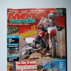 Coches y Motocicletas: REVISTA MOTO VERDE Nº 268 GAS GAS TXT MONTESA COTA 315 SCORPA SY SHERCO HONDA CRE HUSQVARNA TE WR. Lote 149348186