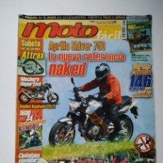 Coches y Motocicletas: REVISTA MOTO FACIL Nº 19 APRILIA SILVER DAELIM ROADWIN HARLEY DAVIDSON FAT BOY YAMAHA YBR GILERA NEX. Lote 149349198