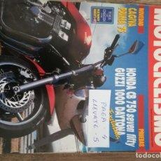 Coches y Motocicletas: REVISTA MOTOCICLISMO 1254 * HONDA CB 750 SEVEN FIFTY + GUZZI 1000 DAYTONA + CALENDARIO 1992 * 51. Lote 149592270