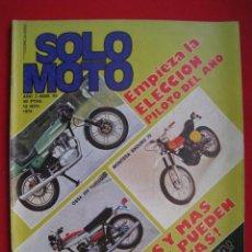 Carros e motociclos: REVISTA SOLO MOTO - Nº 63 - 12 DE NOVIEMBRE DE 1976 - POSTER RICARDO TORMO.. Lote 149605806