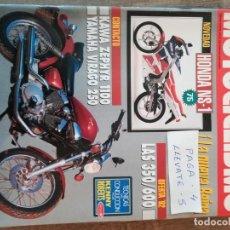 Coches y Motocicletas: REVISTA MOTOCICLISMO 1250 * HONDA NS-1 + KAWASAKI ZEPHYR 1100 + YAMAHA VIRAGO 250 * 53. Lote 149703506
