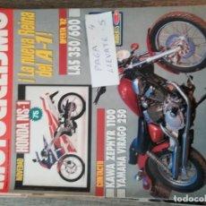 Coches y Motocicletas: REVISTA MOTOCICLISMO 1250 * HONDA NS-1 + KAWASAKI ZEPHYR 1100 + YAMAHA VIRAGO 250 * 54. Lote 150368858