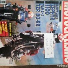 Coches y Motocicletas: REVISTA MOTOCICLISMO 1265 * KAWASAKI ZEPHYR 1100 + YAMAHA TZR 80-RR + PGO COMET 90 * 54. Lote 150369678