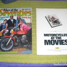 Coches y Motocicletas: BIKES OF THE SEVENTIES & MOTORCYCLES AT THE MOVIES. Lote 150615006