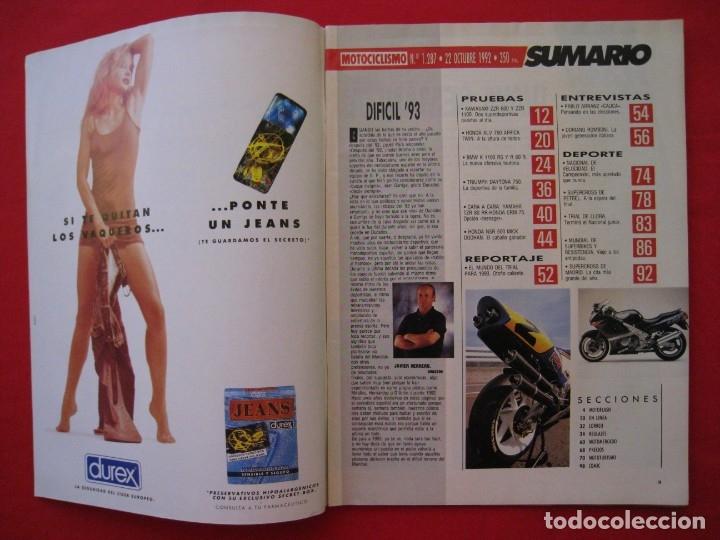 Coches y Motocicletas: REVISTA MOTOCICLISMO - Nº 1.287 - 22 OCTUBRE 1992. - Foto 4 - 150843258