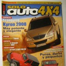 Coches y Motocicletas: REVISTA SOLO AUTO 4X4 Nº285 NISSAN X-TRAIL VOLKSWAGEN TIGUAN JEEP WRANGLER LAND ROVER DEFENDER. Lote 151419134