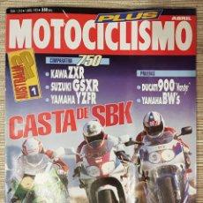Coches y Motocicletas: REVISTA-MOTOCICLISMO 1993 N°1310 ( KAWASAKI ZXR 750 C.C). Lote 151528996