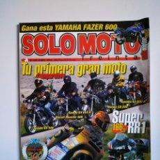 Coches y Motocicletas: REVISTA SOLO MOTO TREINTA Nº 220 SUZUKI GS SVV DUCATI MONSTER HONDA CB YAMAHA XJ SUPER RR1 APRILIA . Lote 151550174