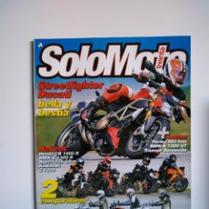 Coches y Motocicletas: REVISTA SOLO MOTO TREINTA Nº 315 DUCATI STREETFIGHTER KAWASAKI VULCAN HARLEY NIGHSTER TRIUMPH BUELL. Lote 151551526