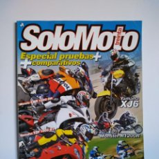 Coches y Motocicletas: REVISTA SOLO MOTO TREINTA Nº 313 HONDA CBR YAMAHA YZF TRIUMPH DAYTONA MONSTER BMW G650X. Lote 151552130