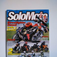 Coches y Motocicletas: REVISTA SOLO MOTO TREINTA Nº 315 DUCATI STREETFIGHTER KAWASAKI VULCAN HARLEY NIGHSTER TRIUMPH BUELL. Lote 151553454