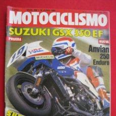 Coches y Motocicletas: REVISTA MOTOCICLISMO - Nº 856 - 16 JUNIO 1984.. Lote 151784806