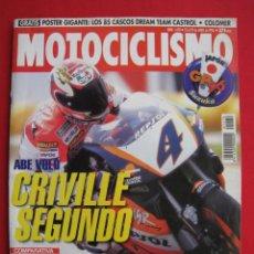 Coches y Motocicletas: REVISTA MOTOCICLISMO -Nº 1.470 -23 AL 29 ABRIL 1996-POSTER GIGANTE LOS 85 CASCOS DREAM TEAM CASTROL.. Lote 151887574