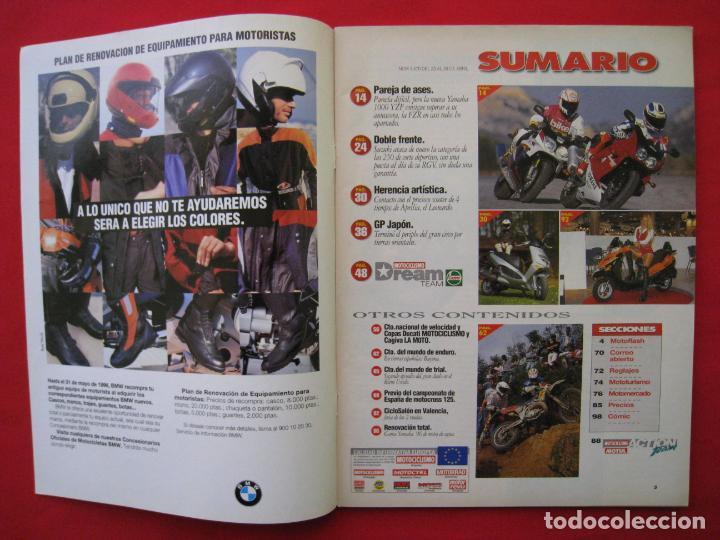 Coches y Motocicletas: REVISTA MOTOCICLISMO -Nº 1.470 -23 AL 29 ABRIL 1996-POSTER GIGANTE LOS 85 CASCOS DREAM TEAM CASTROL. - Foto 4 - 151887574