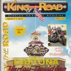 Coches y Motocicletas: KING OF THE ROAD - REVISTA HARLEY - CHOPPER - CUSTOM - MAGAZINE - Nº 12 BENELUX - EN FRANCES. Lote 151976258