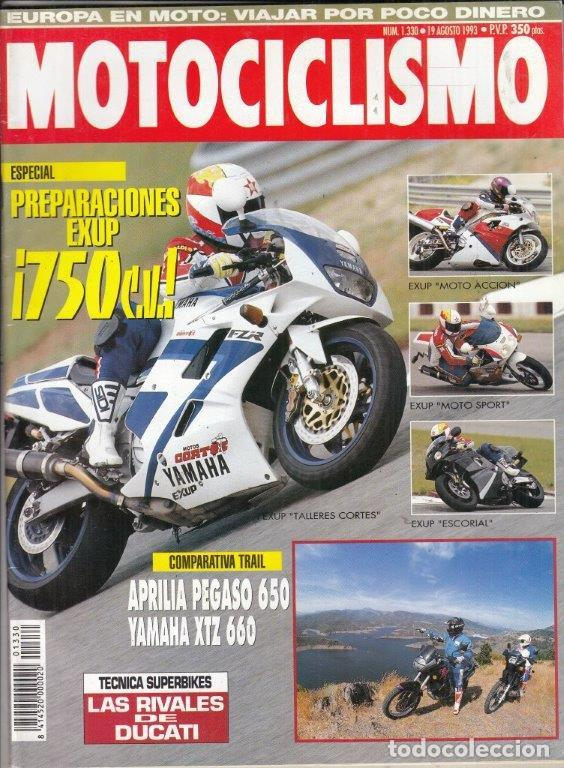 REVISTA MOTOCICLISMO Nº 1330 NAÑO 1993  COMPARATIVA: APRILIA PEGASO 650 Y  YAMAHA XTZ 660 TENERE