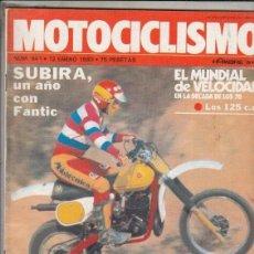 Coches y Motocicletas: REVISTA MOTOCICLISMO Nº 641 AÑO 1980. PRU: MONTESA COPPRA 414 VF. COMP: LAVERDA 1200, DUCATI 900 SS. Lote 152027834