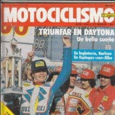 Coches y Motocicletas: REVISTA MOTOCICLISMO Nº 698 AÑO 1981. PRESENTACION: MONTESA CRONO 350 MS. . Lote 152030558