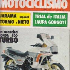 Coches y Motocicletas: REVISTA MOTOCICLISMO Nº 707 AÑO 1981. PRUEBA: PUCH BLANCO COBRA X3S AGUA TT. RACING: CAGIVA 500 GP.. Lote 152031922