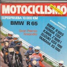 Coches y Motocicletas: REVISTA MOTOCICLISMO Nº 669 AÑO 1980. PRU: BMW R 65 10.000 KM. COMP: BMW R 100 S, SUZUKI GSX 1100. Lote 152033738