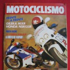 Coches y Motocicletas: REVISTA MOTOCICLISMO - Nº 1.129 - 12 OCTUBRE 1989 - POSTER DE JORDI TARRES.. Lote 152035174