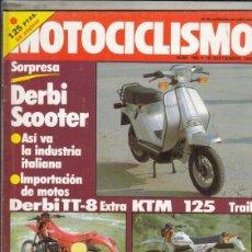 Coches y Motocicletas: REVISTA MOTOCICLISMO Nº 768 AÑO 1982. PRESENTACION: DERBI SCO.. Lote 152037510