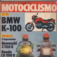 Coches y Motocicletas: REVISTA MOTOCICLISMO Nº 817 AÑO 1983. COMPARATIVA: HONDA CB 1100 R Y KAWASAKI Z 1135 R. . Lote 152037790