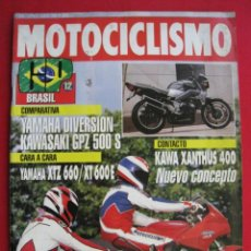 Coches y Motocicletas: REVISTA MOTOCICLISMO - Nº 1.279 - 27 AGOSTO 1992.. Lote 152041566