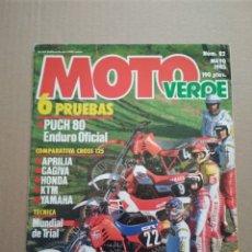 Coches y Motocicletas: MOTO VERDE N° 82 MAYO 1985. Lote 152277501