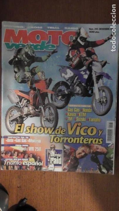 REVISTA MOTO VERDE. NÚMERO 245. DICIEMBRE DE 1998 (Coches y Motocicletas - Revistas de Motos y Motocicletas)