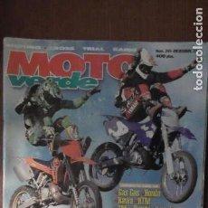 Coches y Motocicletas: REVISTA MOTO VERDE. NÚMERO 245. DICIEMBRE DE 1998. Lote 153417474