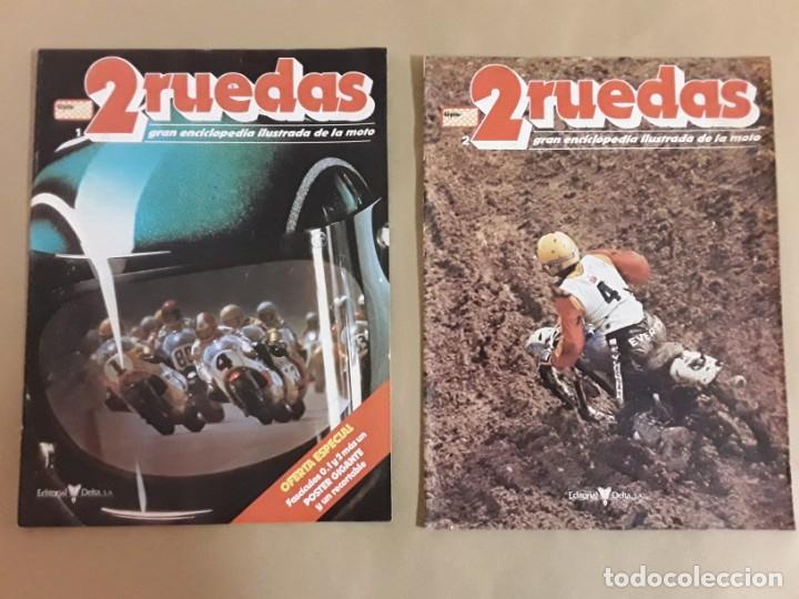 REVISTA 2 RUEDAS,N°1 Y 2,GRAN ENCICLOPEDIA ILUSTRADA DE LA MOTO. (Coches y Motocicletas - Revistas de Motos y Motocicletas)