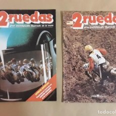 Coches y Motocicletas: REVISTA 2 RUEDAS,N°1 Y 2,GRAN ENCICLOPEDIA ILUSTRADA DE LA MOTO.. Lote 153521822