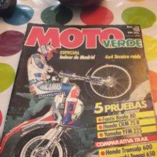 Coches y Motocicletas: REVISTA MOTO VERDE 132. AÑO 1989. Lote 153914156