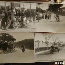 Coches y Motocicletas: LOTE 4 FOTOGRAFÍAS COMPETICIÓN DE MOTOS, HARLEY DAVIDSON, SIDECAR, RESPOSTANDO, ETC PIORTIZ MADRID. Lote 154132730