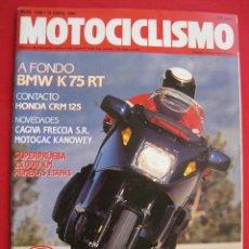 Coches y Motocicletas: REVISTA MOTOCICLISMO - Nº 1.156 - 19 ABRIL 1990 - CON POSTER DE SITO PONS.. Lote 154436198