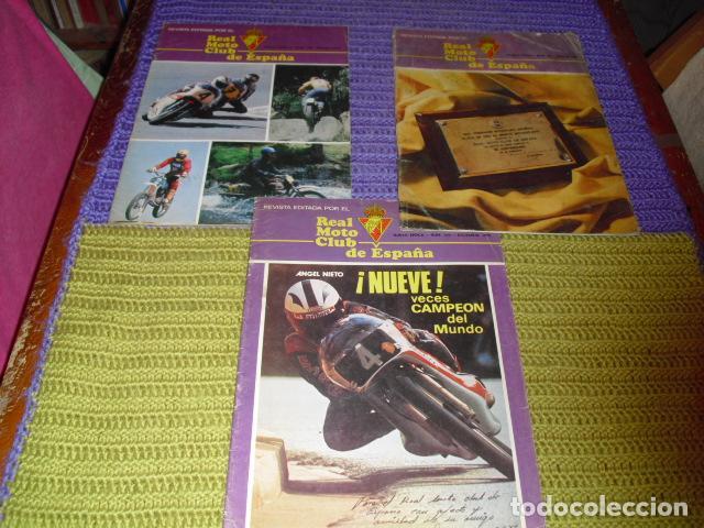 REVISTAS REAL MOTO CLUB DE ESPAÑA- NUMS. 348 - 350 - 351 -AÑOS 1979-1980 - (Coches y Motocicletas - Revistas de Motos y Motocicletas)