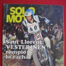 Coches y Motocicletas: REVISTA SOLO MOTO - Nº 80 - 11 MARZO 1977.. Lote 155496630