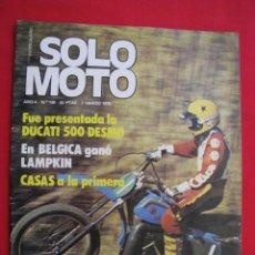 Coches y Motocicletas: REVISTA SOLO MOTO - Nº 130 - 2 MARZO 1978.. Lote 155700786
