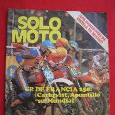 Coches y Motocicletas: REVISTA SOLO MOTO - Nº 196 - 21 JUNIO 1979.. Lote 155702382