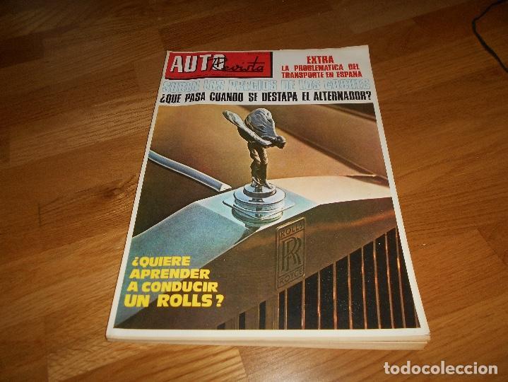 AUTO REVISTA EXTRA N1º 757 1971 DICIEMBRE ROLLS CAMIONES PEGASO (Coches y Motocicletas - Revistas de Motos y Motocicletas)