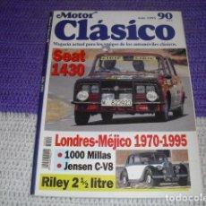 Coches y Motocicletas: MOTOR CLÁSICO Nº 90 - JULIO 1995 -. Lote 155836470