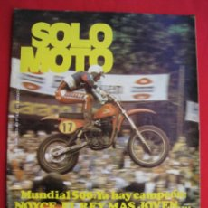 Coches y Motocicletas: REVISTA SOLO MOTO - Nº 203 - 10 AGOSTO 1979 - CON POSTER DE PATRICK FERNANDEZ ( YAMAHA ).. Lote 155934470